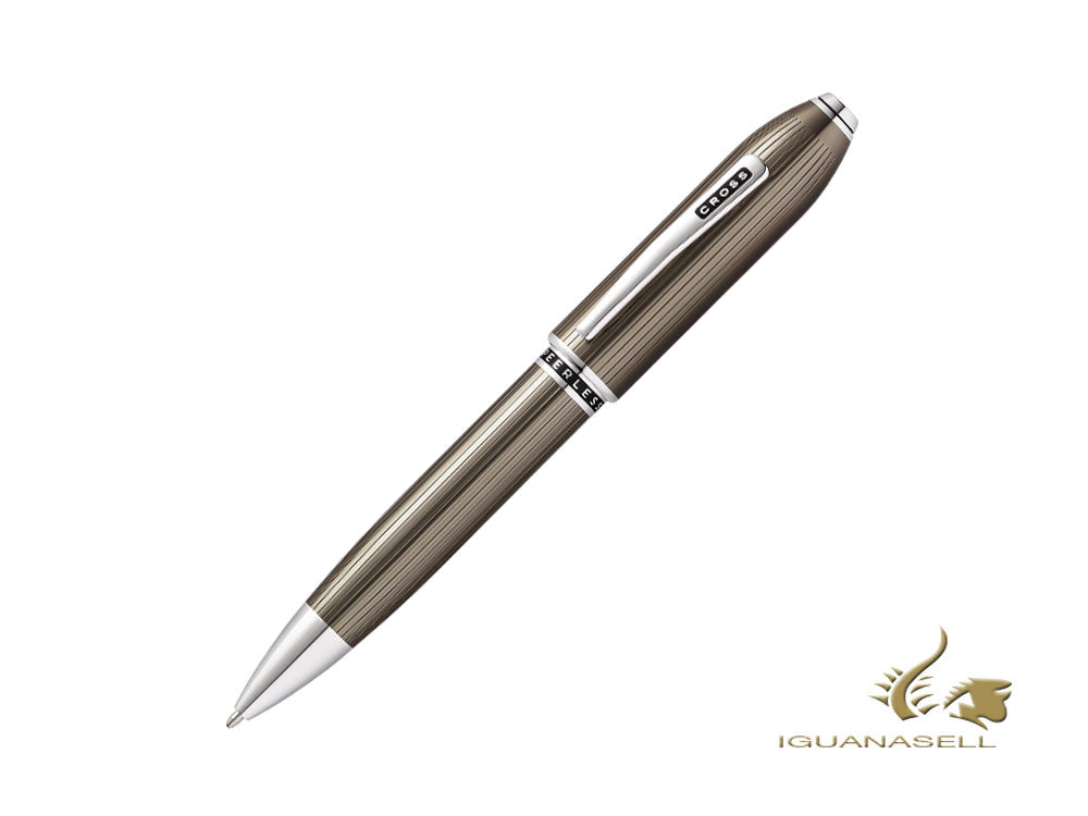Cross Peerless 125 Ballpoint pen, Lacquer, Grey, Platinum trim, AT0702-13