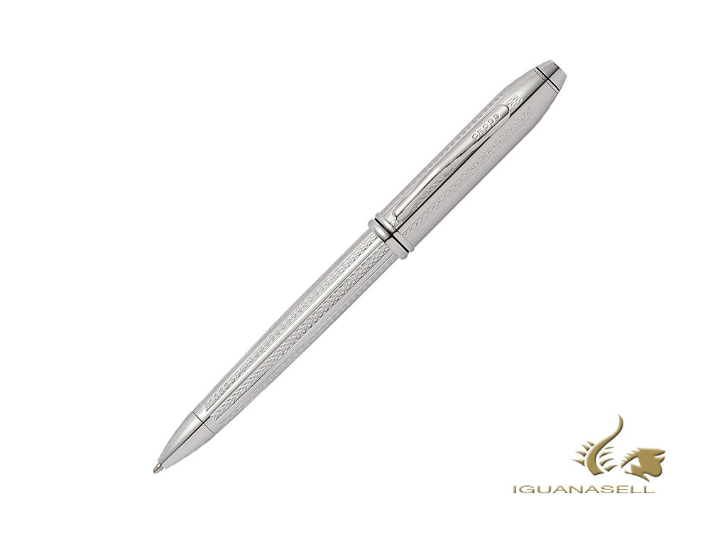 Cross Townsend Ballpoint Pen, Platinum, Silver, Polished, AT0042TW-1