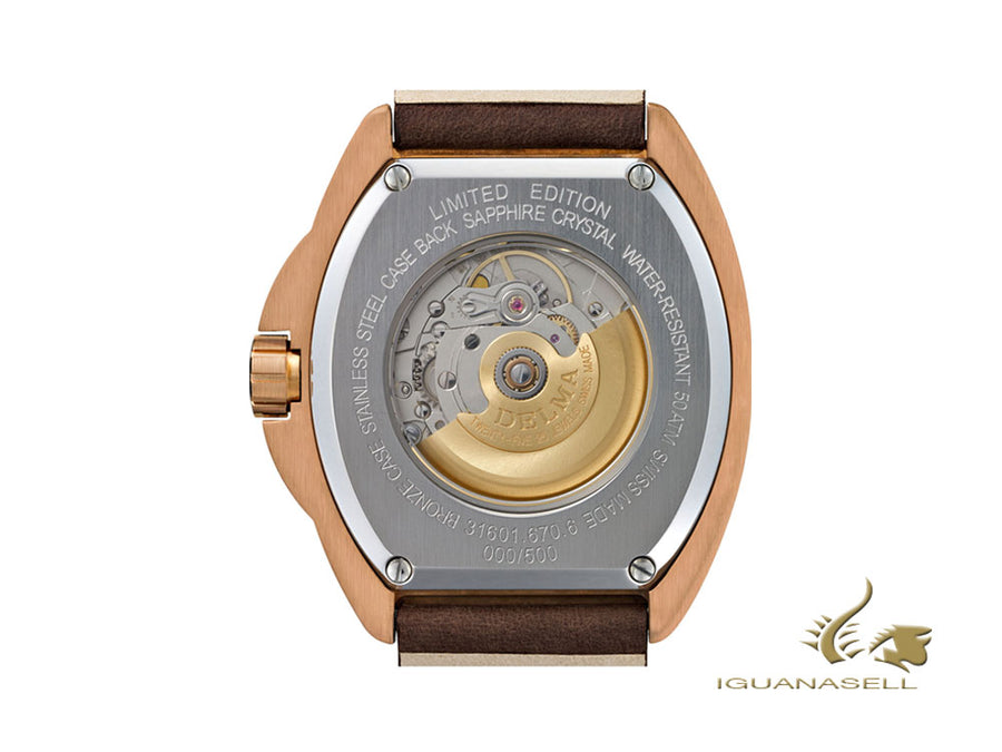 Delma Diver Shell Star Bronze Automatic Watch, Limited Edition, 31601.670.6.041