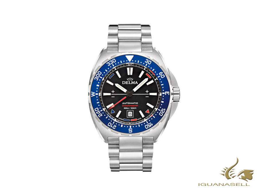 Delma Racing Oceanmaster Automatic Watch, Black, 44 mm, 41701.670.6.048