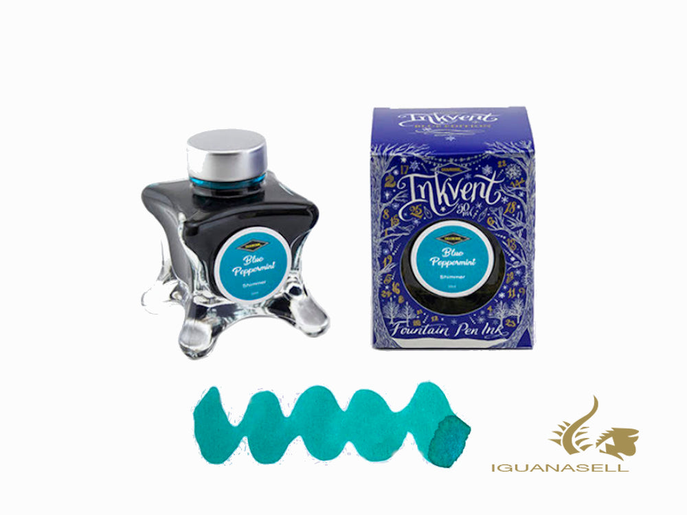 Diamine Ink Bottle Blue Pepper, Ink Vent Blue, 50ml, Turquoise
