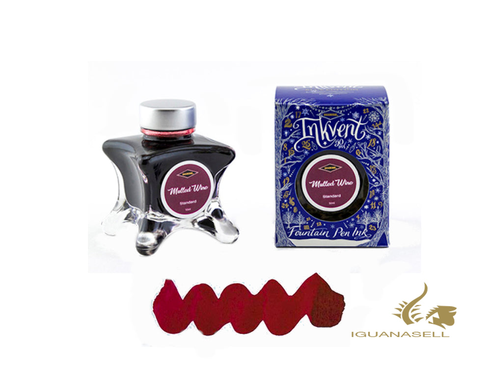 Diamine Ink Bottle Mulled Wine, Ink Vent Blue, 50ml, Burgundy