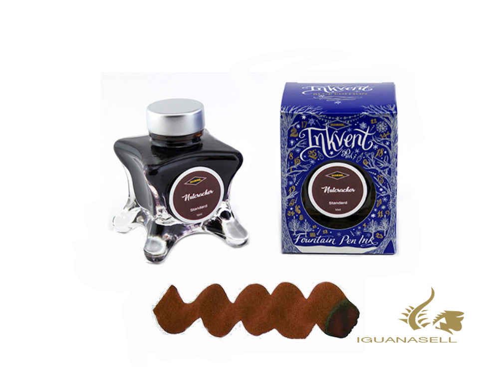 Diamine Ink Bottle Nutcracker, Ink Vent Blue, 50ml, Brown