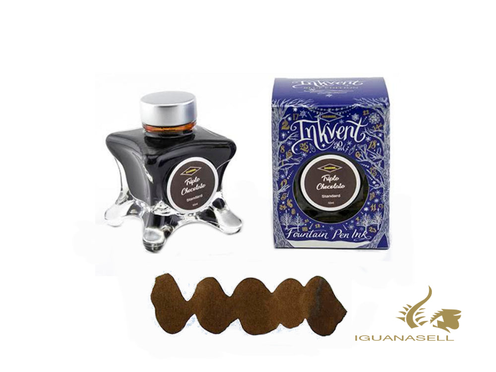 Diamine Ink Bottle Triple Chocolate, Ink Vent Blue, 50ml, Brown