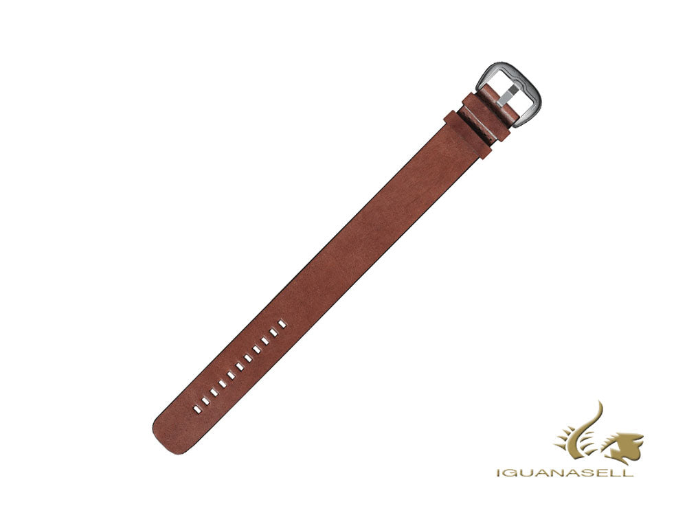 Dietrich Straight Strap, Leather, Brown, 22mm, Buckle, Stainless Steel