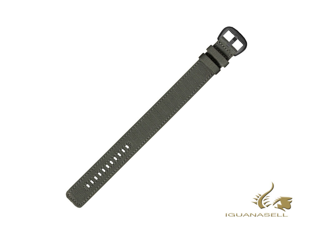 Dietrich Straight Strap, Nylon, Green, 24mm, Buckle, Stainless Steel