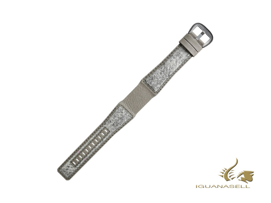 Dietrich Tailored Strap, Leather & Tweed, Grey , 22mm, Buckle, Stainless Steel