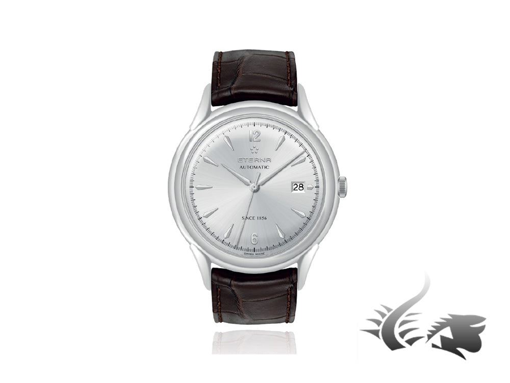 Eterna Heritage 1948 Gent Automatic Watch, SW 300-1, 40mm, 5atm, Cayman, Silver