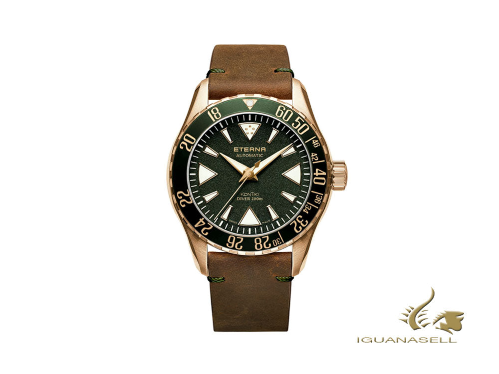Eterna KonTiki Bronze Manufature Automatic Watch, Limited Ed., 1291.78.51.1430