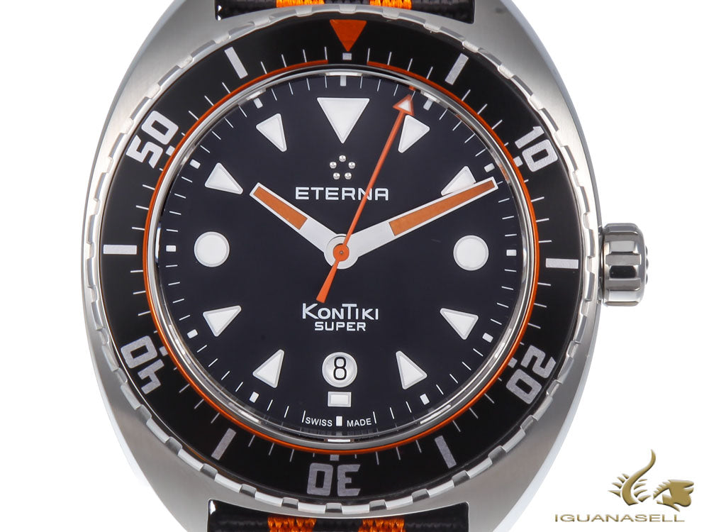 Eterna Super KonTiki Limited Edition Automatic Watch, SW 200-1, 45mm, Black