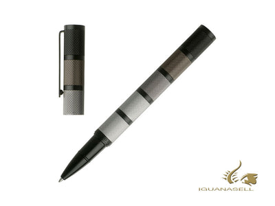 Hugo Boss Evolution Fountain Pen, Rollerball pen & Leather case Set, IPS