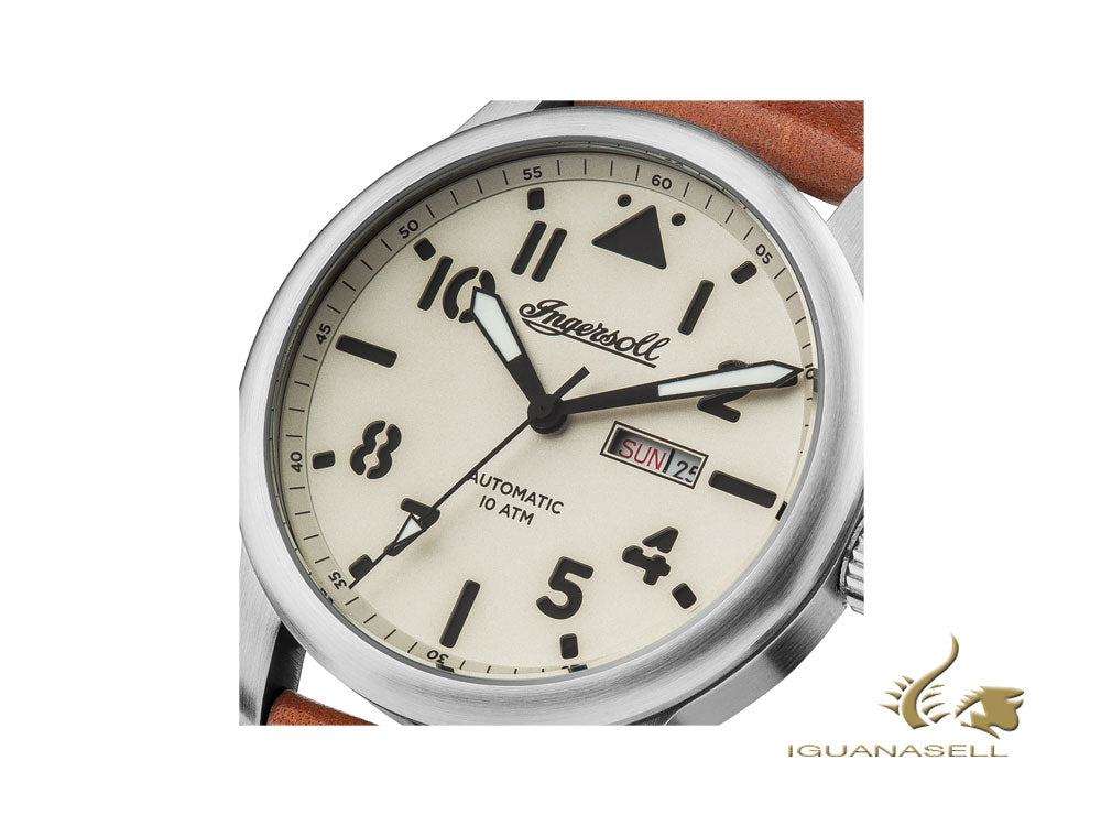 Ingersoll Hatton Automatic Watch, 47mm, Cream, 10 atm, Date, I01301