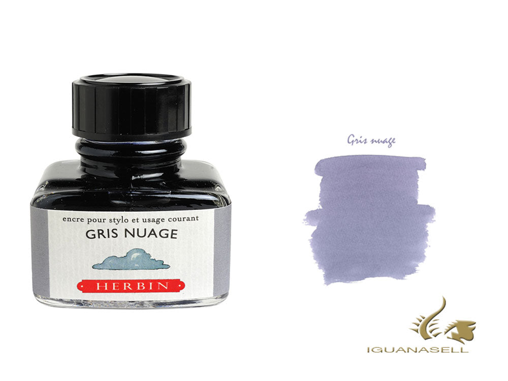 J. Herbin Ink Bottle, Gris Nuage, 30ml, Glass, 13008T
