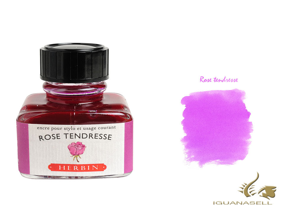 J. Herbin Ink Bottle, Rose Tendresse, 30ml, Glass, 13061T
