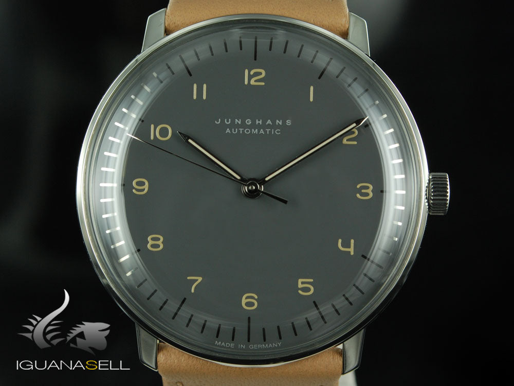 Junghans Max Bill Automatic Watch, J800.1, 38mm, Anthracite, 027/3401.00