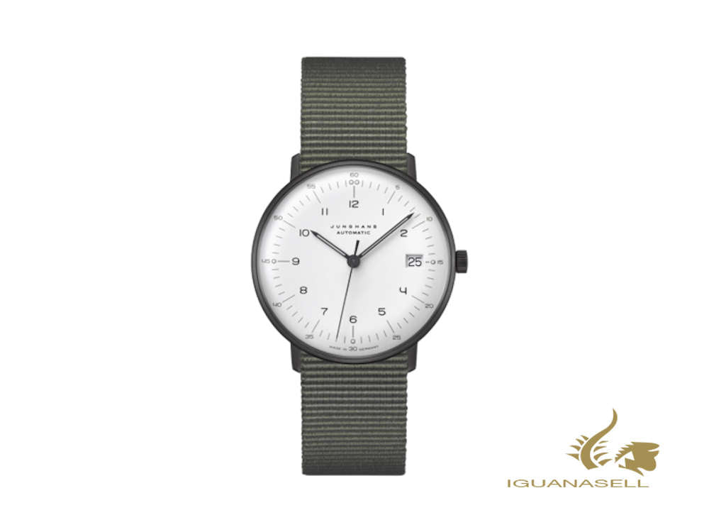 Junghans Max Bill Kleine Automatic Automatic Watch, 34 mm, White, 027/4005.04