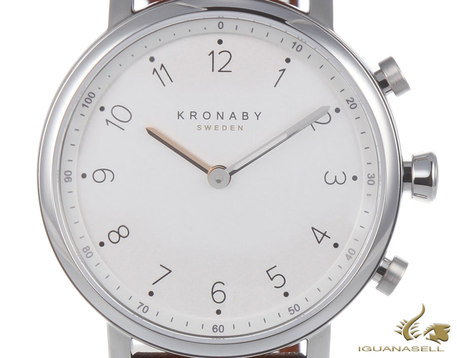 Kronaby Nord Quartz Watch, White, 38mm, 10 atm, A1000-0711