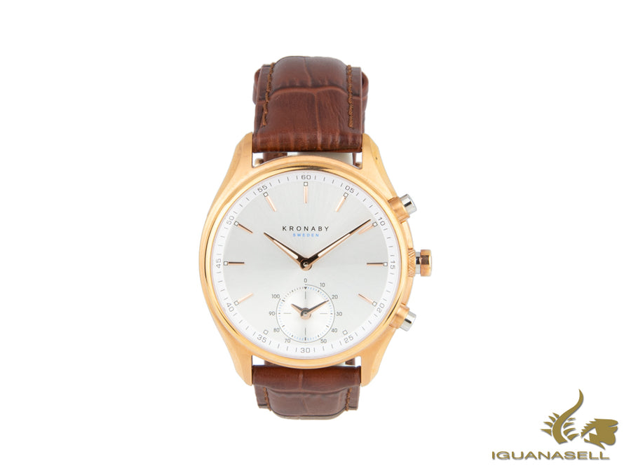Kronaby Sekel Quartz Watch, PVD Rose Gold, Silver, 43 mm, 10 atm, A1000-2746