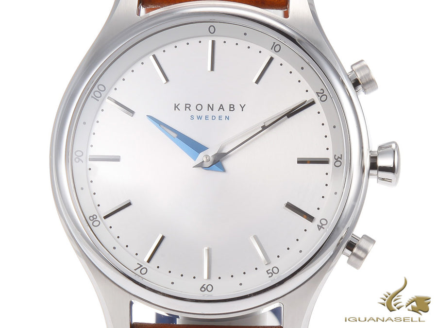Kronaby Sekel Quartz Watch, Silver, 38mm, 10 atm, A1000-0658