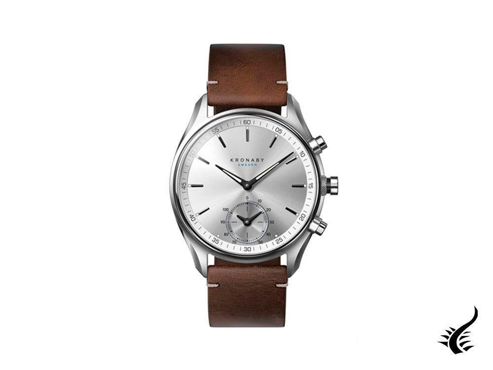 Kronaby Sekel Quartz Watch, Silver, 43mm, 10 atm, A1000-0714
