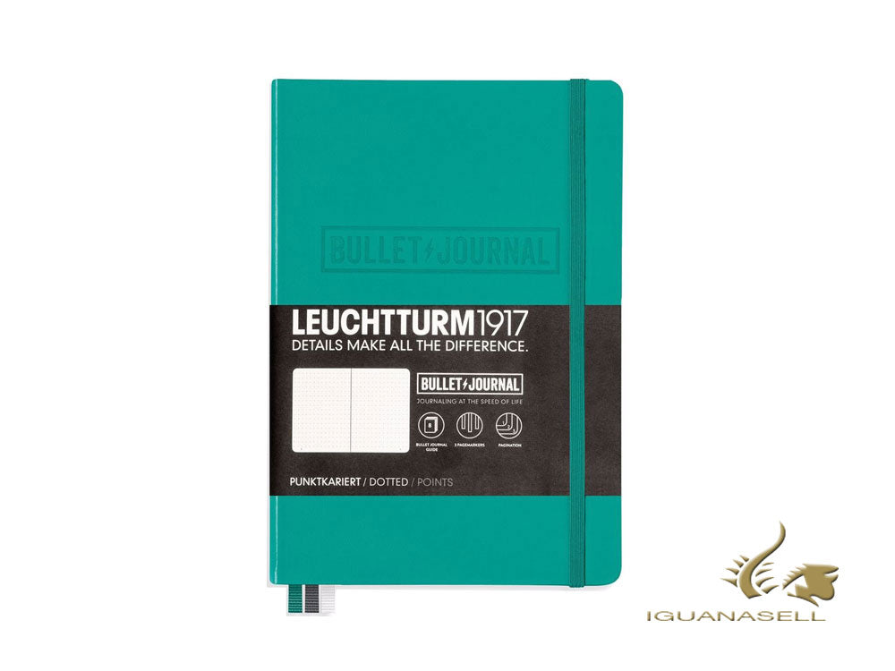 Leuchtturm1917 Bullet Journal, Medium (A5), Dotted, Emerald, 240 pages, 355280