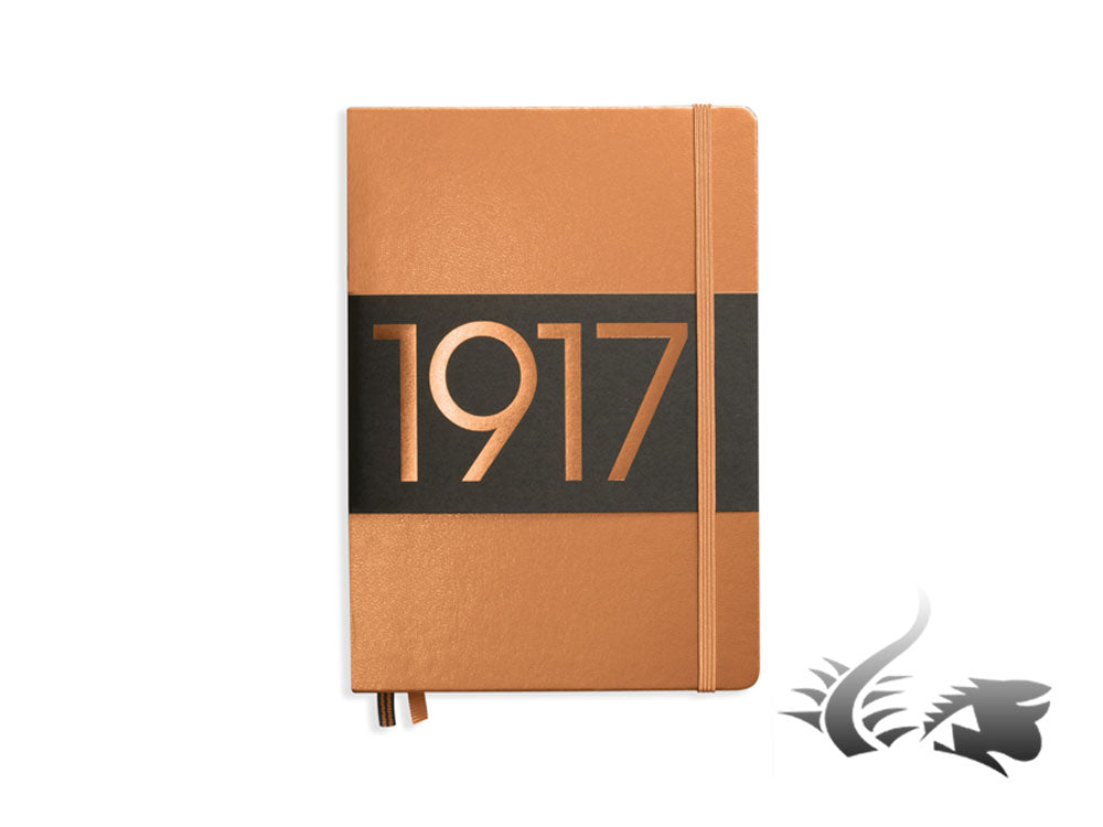 Leuchtturm1917 Metallic Edition Hardcover Notebook, Medium (A5), Dotted, Copper