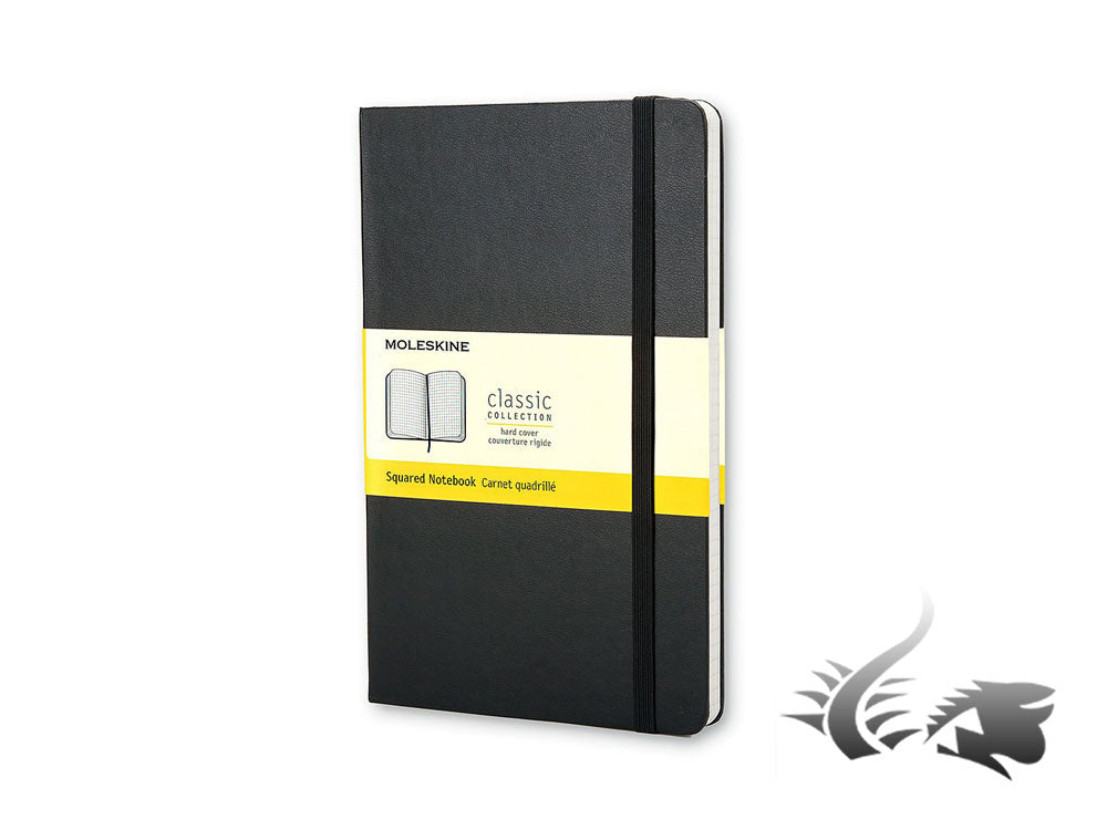 Moleskine Classic Hard cover Notebook, Large, Squared, Black, 240 pages