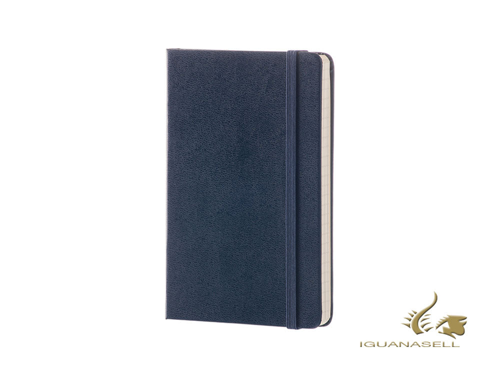 Moleskine Hard cover Notebook, Large (13 x 21 cm), Plain, Blue, 240 pages
