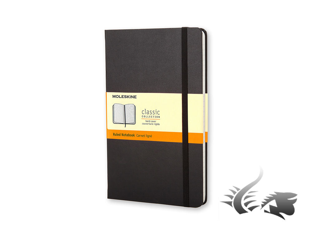 Moleskine Classic Hard cover Notebook, Pocket, Ruled, Black, 192 pages