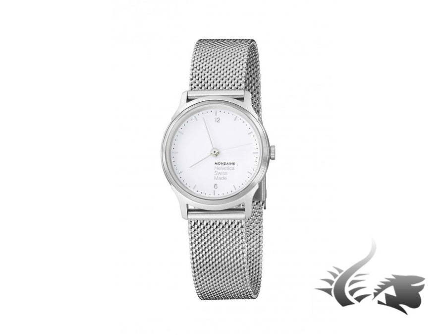 Mondaine Helvetica Quartz watch, White No1 Light, 26 mm. MH1.L1110.SM