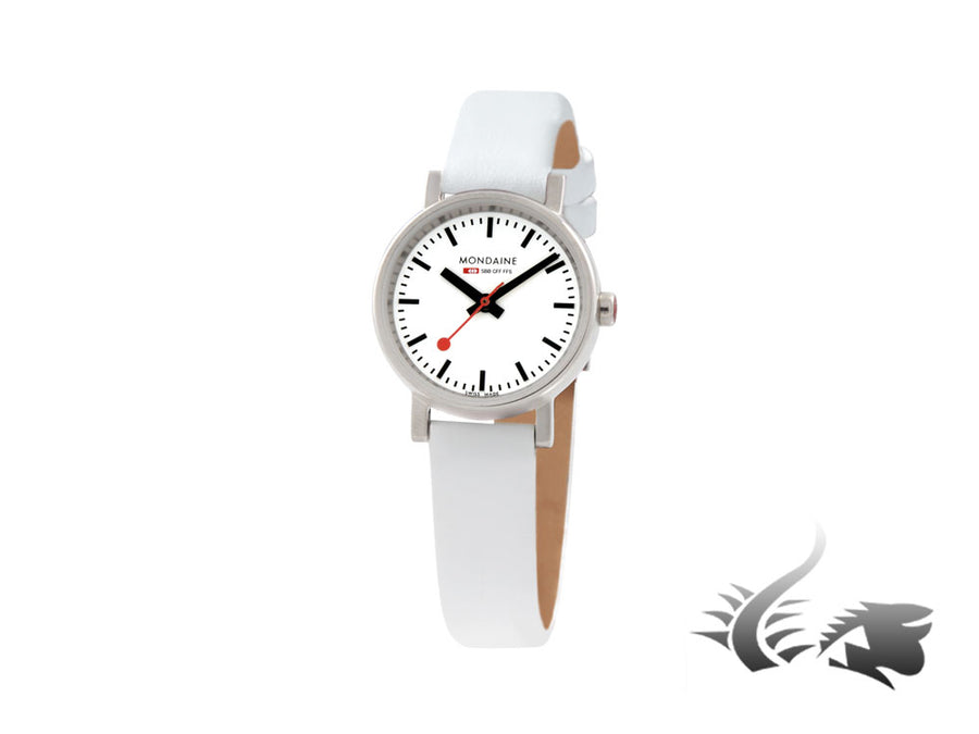 Mondaine SBB Evo Petite Quartz watch, White, 26 mm. A658.30301.11SBN