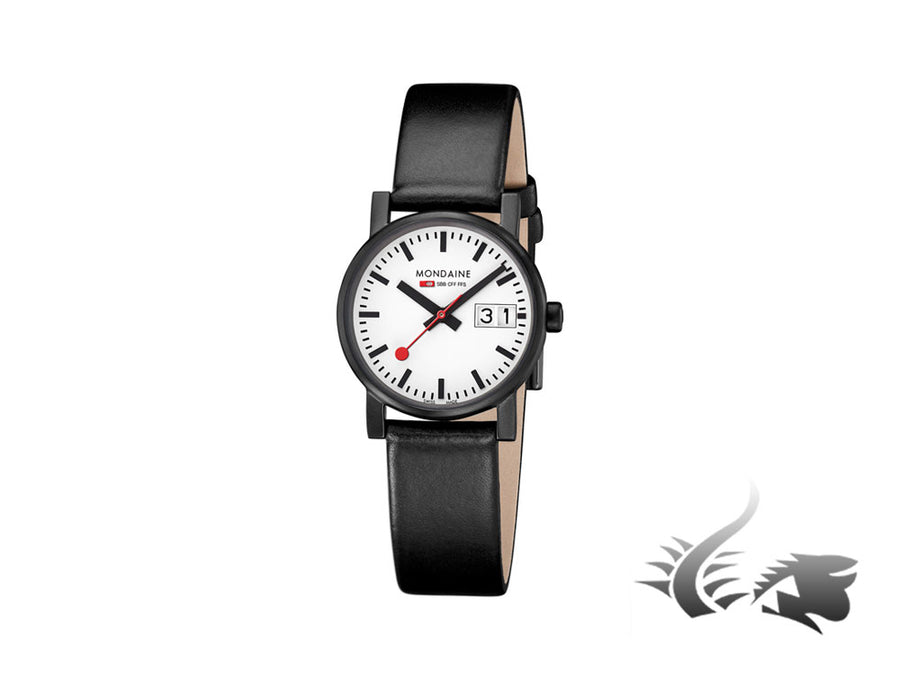 Mondaine SBB Evo Quartz watch, Black, 30mm. A669.30305.61SBB