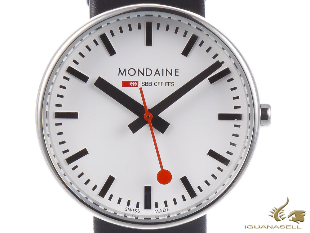 Mondaine SBB Mini Giant Quartz Watch BackLight, 35mm, MSX.3511B.LB