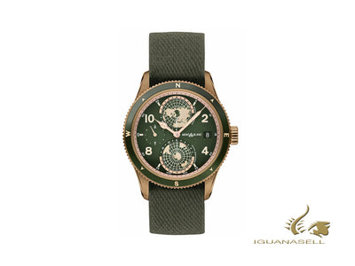 Montblanc 1858 Geosphere Automatic Watch, Ceramic, Green, 42 mm, Nato, 119909