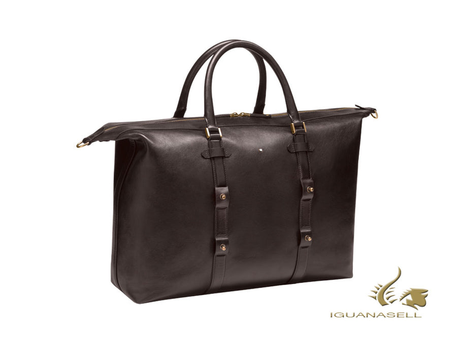 "Montblanc 1926 Montblanc Heritage ""Duffle"" Men's bag, Leather, Cotton, Brown"