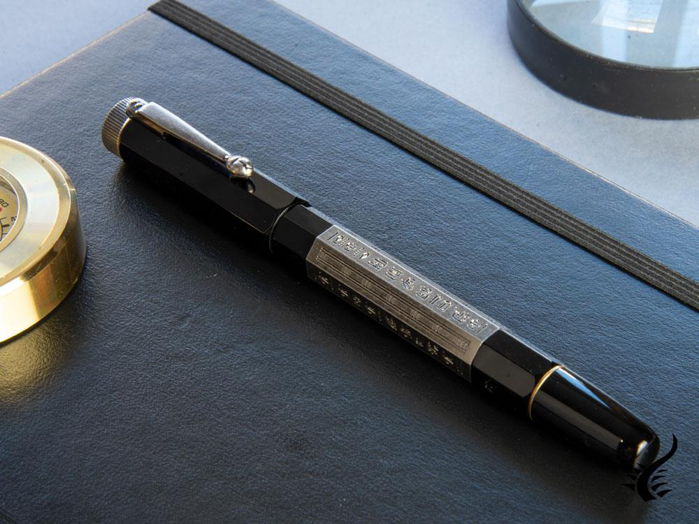 Montblanc Heritage Egyptomania Doué Fountain Pen, Platinum trim, 125484