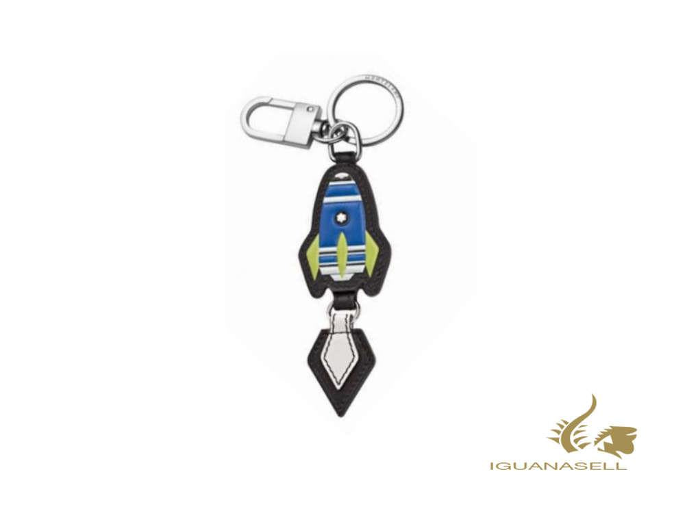 Montblanc Meisterstück Soft Grain Blue Rocket Key ring, Steel, Leather, 127381