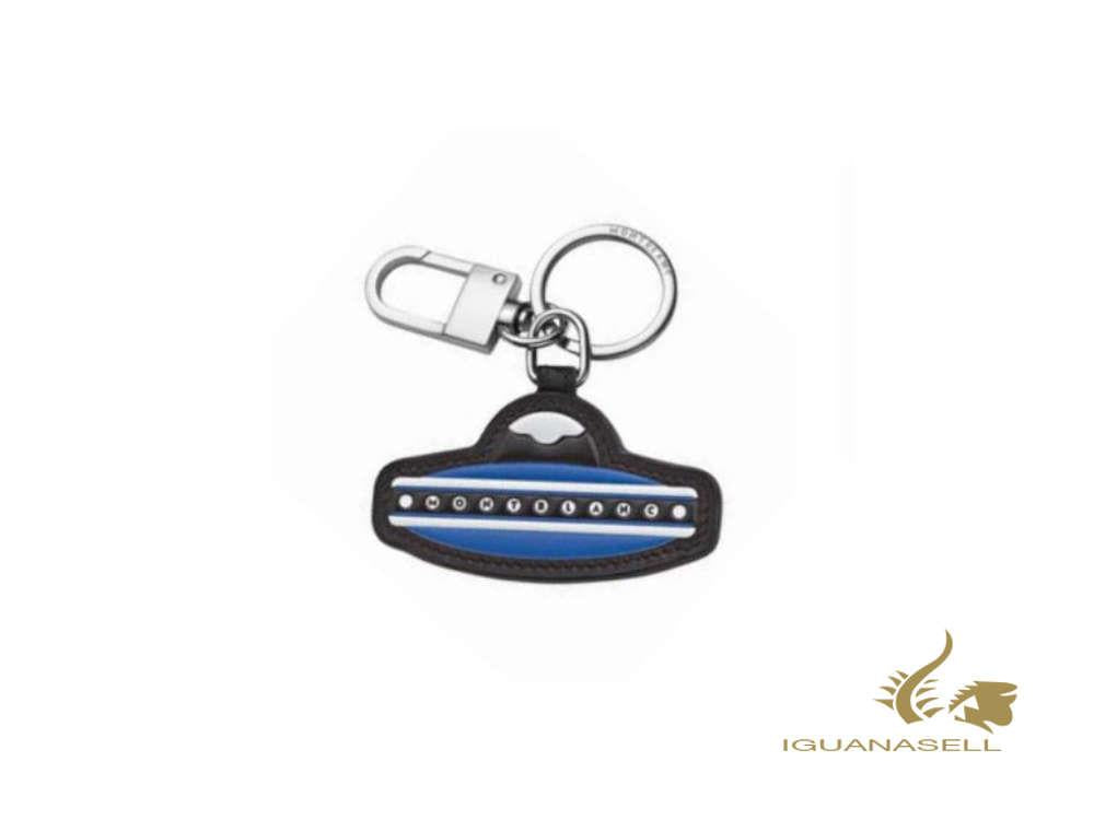 Montblanc Meisterstück Soft Grain Blue UFO Key ring, Steel, Leather, 127379