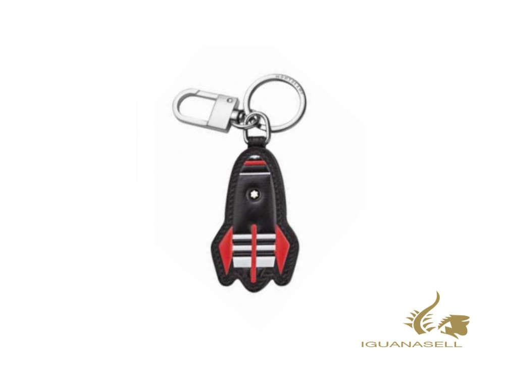 Montblanc Meisterstück Soft Grain Red Rocket Key ring, Steel, Leather, 127382