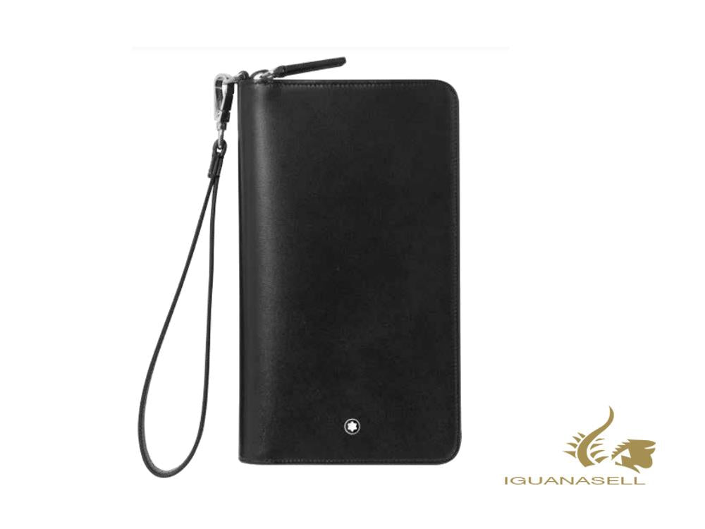 Montblanc Meisterstück Travel Wallet, Black, Leather, 7 Cards, Zip, 126218
