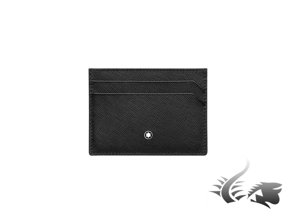 Montblanc Sartorial Credit card holder, Leather, Jacquard, Black, 5 Cards