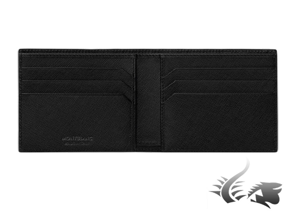 Montblanc Sartorial Wallet, Leather, Jacquard, Black, 6 Cards, 113215