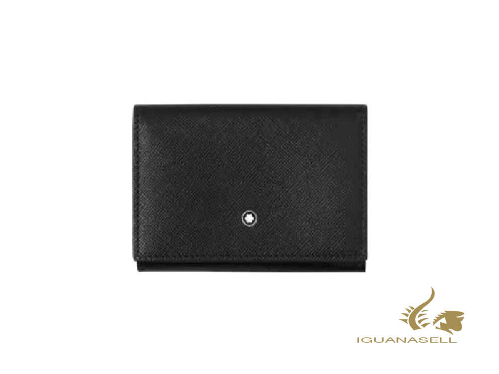 Montblanc Sartorial Credit card holder, Leather, Soft, Black, 3 Cards, 126267