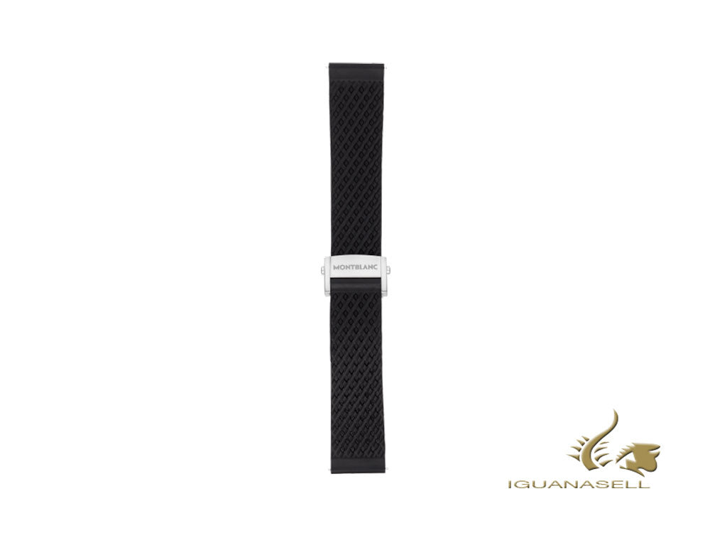 Montblanc Summit 2 Rubber Sport Strap, Black, 22mm, 119436