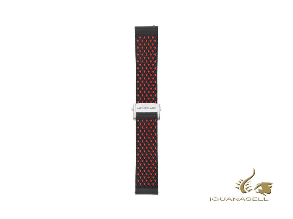 Montblanc Summit 2 Rubber Sport Strap, Red and Black, 119559