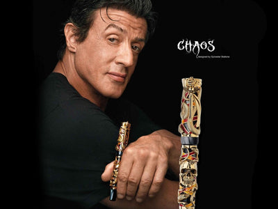 Montegrappa Chaos Gold Rollerball Pen by S. Stallone