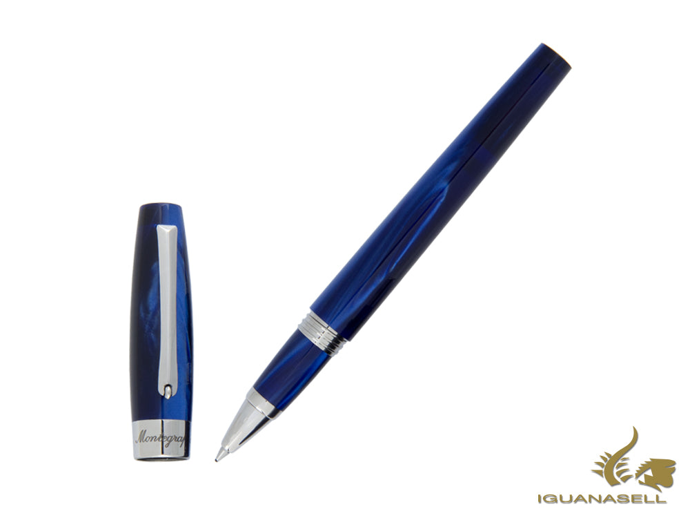Montegrappa Felicità Jellybon Ocean Rollerball Pen, Mother of Pearl Resin