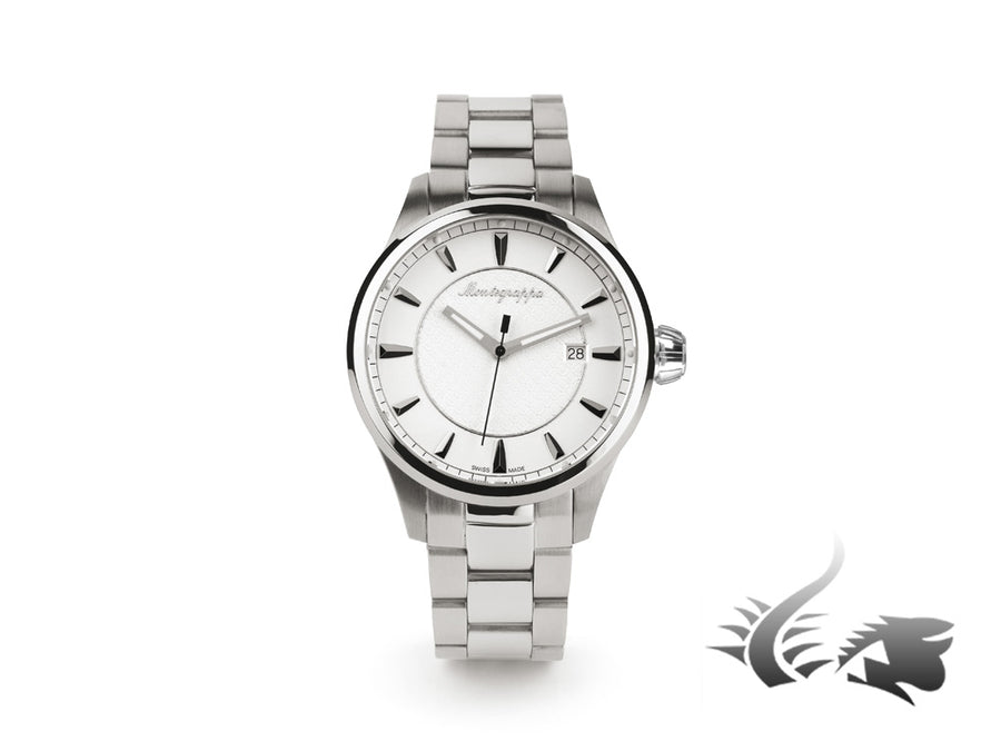Montegrappa Fortuna Three Hands Quartz watch, White, 42mm. IDFOWAIJ