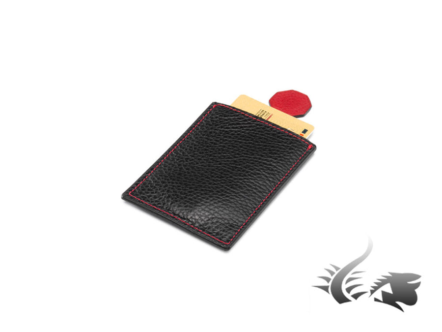 Montegrappa Leather collection Credit card holder, Leather, Black, A.2066.CR