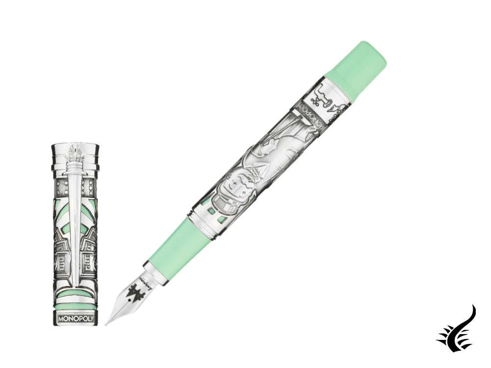 Montegrappa Monopoly 85th LE Fountain Pen, Resin, Green, ISMXL-SE
